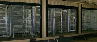 Modular Turnstile Buildings - Modified Cargo Containers with Turnstiles & Access Control